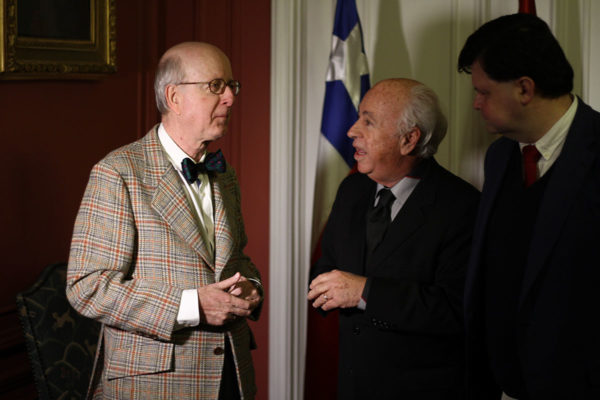 Carlos Robles, Embajador de España; Alfredo Vega, Directori Ejecutivo FHiS; Manuel Llaneza, Presidente FHiS.