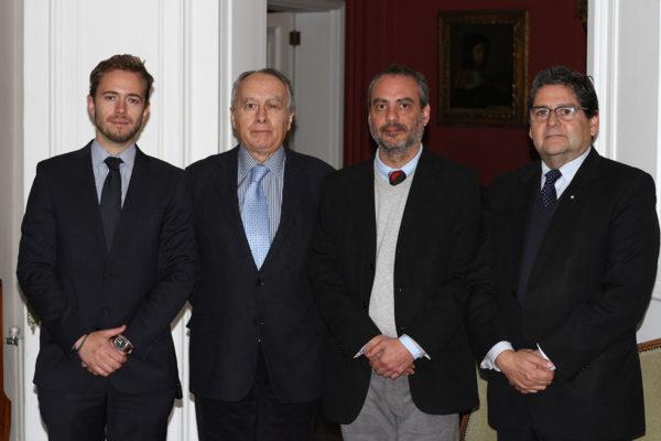 Raimundo Miquel, Targetr DDI; Jorge Jimenez, FHiS; Leonardo Mosso, Comité Donaciones Culturales; Roberto Sepúlveda, Mapfre-Chile.