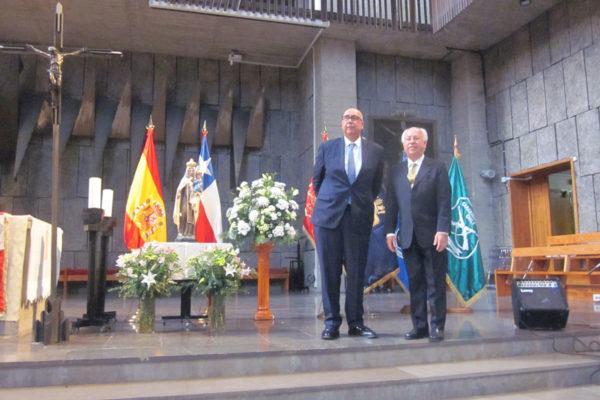 Jorge Tagle, Embajador de Chile y Alfredo Vega, Director Ejecutivo FHIS.