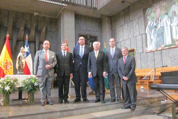 Embajador y Personal Diplomático de la Embajada en Madrid.