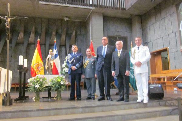 Embajador y Agregados Aéreo, Militar y Naval de la Embajada.